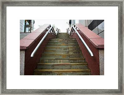 A Set Of Marble Stairs Framed Print by Rikki Prince