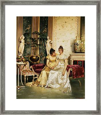 A Shared Confidence Framed Print by Joseph Frederick Charles Soulacroix