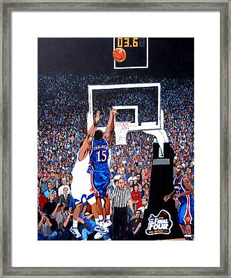 A Shot To Remember - 2008 National Champions Framed Print by Tom Roderick
