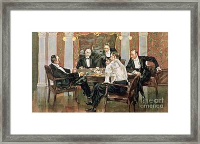 A Showdown Framed Print by Albert Beck Wenzell