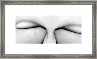 A Single Tear Framed Print by Joe Bonita