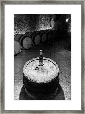 A Sip In The Cellar Framed Print by W Chris Fooshee