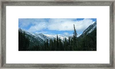 A Slice Of Heaven North Cascades Motivational Artwork By Omashte Framed Print by Omaste Witkowski