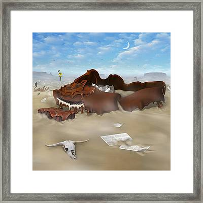 A Slow Death In Piano Valley Sq Framed Print by Mike McGlothlen