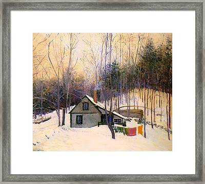 A Snowy Monday Framed Print by Mountain Dreams
