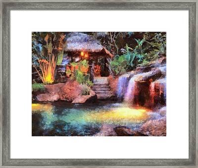 A Spa For All Seasons Framed Print by Mario Carini