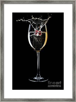 A Sparkling Splash Framed Print by Christine Mayfield