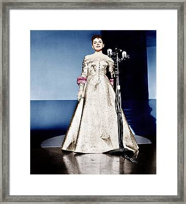 A Star Is Born, Judy Garland, 1954 Framed Print by Everett