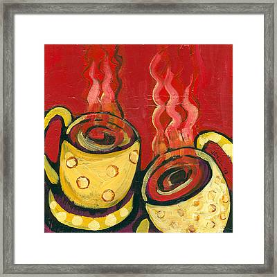 A Steaming Romance Framed Print by Jennifer Lommers