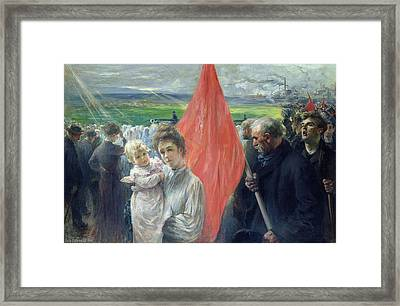 A Strike At Saint Ouen Framed Print by Paul Louis Delance