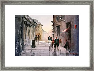 A Stroll In Italy Framed Print by Ryan Radke