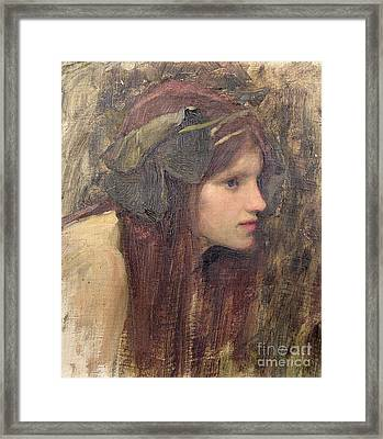 A Study For A Naiad Framed Print by John William Waterhouse