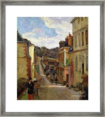 A Suburban Street Framed Print by Paul Gauguin