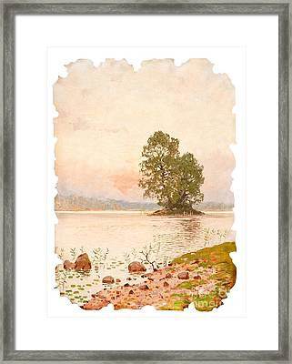 A Summer Evening Framed Print by Celestial Images