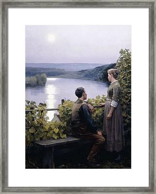 A Summer Evening Framed Print by Daniel Ridgway Knight