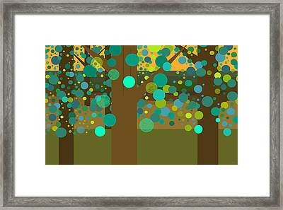 A Summer Evening Framed Print by Val Arie