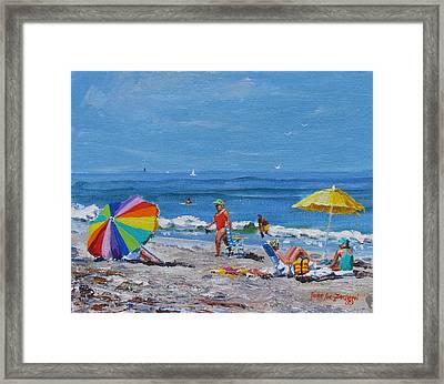 A Summer Framed Print by Laura Lee Zanghetti