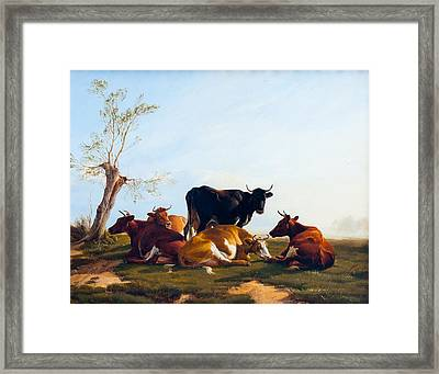 A Summers Evening Framed Print by Thomas Sidney