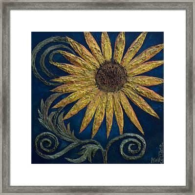 A Sunflower Framed Print by Kelly Jade King
