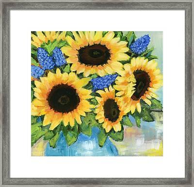 A Sunny Arrangement Framed Print by Debbie Brown