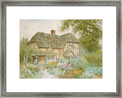 A Surrey Cottage Framed Print by Arthur Claude Strachan