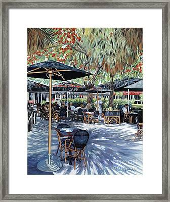 A Table For Two Framed Print by Danielle  Perry