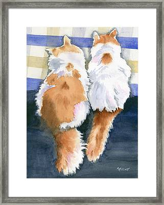 A Tail Of Two Kitties Framed Print by Marsha Elliott