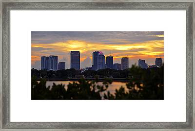 A Tampa Summer Evening Framed Print by David Lee Thompson