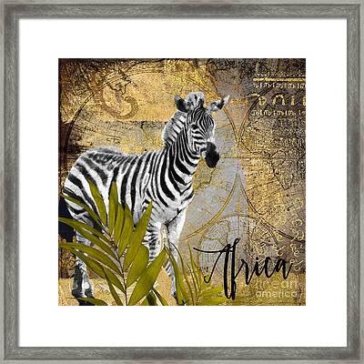 A Taste Of Africa Zebra Framed Print by Mindy Sommers