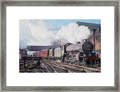 A 'thompson' B1 Class Moving Empty Stock On A Cold February Morning Framed Print by David Nolan