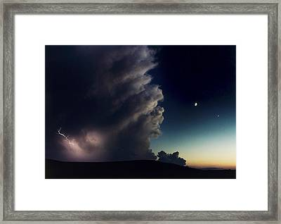 A Thunderstorm, Evening Star Framed Print by Joel Sartore