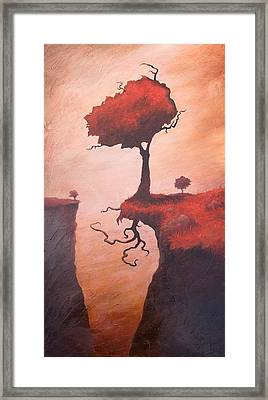White Dress Framed Print featuring the painting A Totem Of Will by Ethan Harris