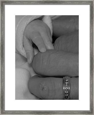 A Touch Of Innocence Framed Print by Karen Musick