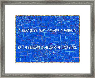 A Treasure Framed Print by Will Borden