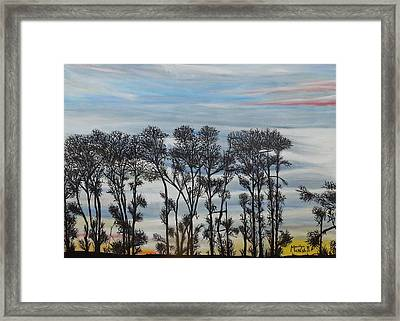 A Treeline Silhouette Framed Print by Marilyn  McNish