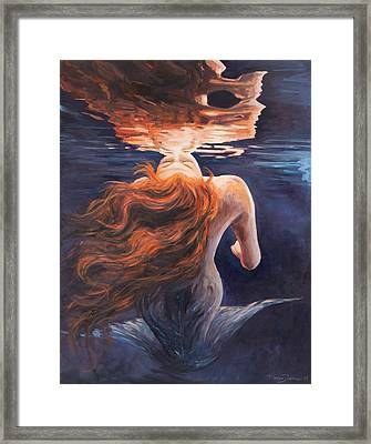 A Trick Of The Light - Love Is Illusion Framed Print by Marco Busoni