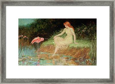 A Trusting Moment Framed Print by Frederick Stuart Church
