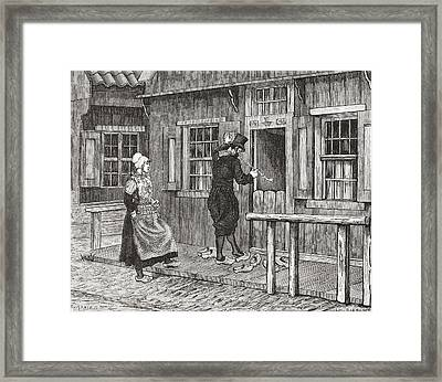 A Typical Wooden House On The Island Of Framed Print by Vintage Design Pics