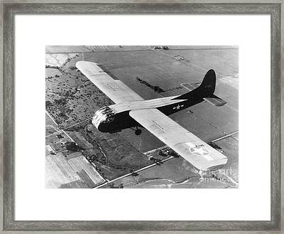 A U.s. Army Air Force Waco Cg-4a Glider Framed Print by Stocktrek Images