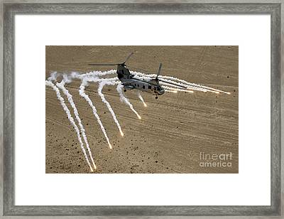 A U.s. Marine Corps Ch-46 Sea Knight Framed Print by Stocktrek Images