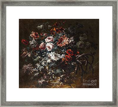 A Vase Of Flowers Framed Print by Celestial Images