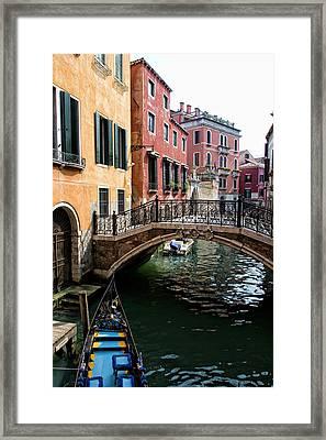 A Venetian Canal Framed Print by Michelle Sheppard