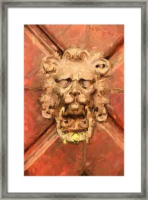 A Venetian Welcome Framed Print by Georgiana Romanovna