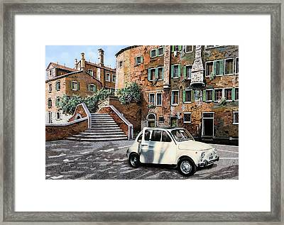 a Venezia in 500 Framed Print by Guido Borelli