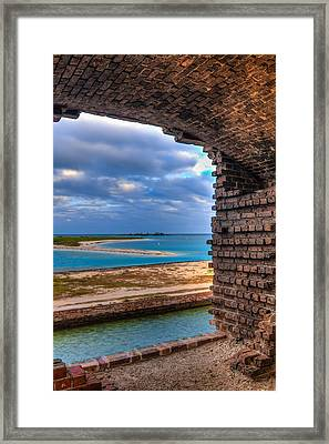 A View From Fort Jefferson - 2 Framed Print by Andres Leon
