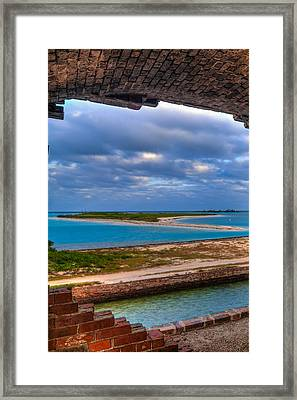 A View From Fort Jefferson Framed Print by Andres Leon