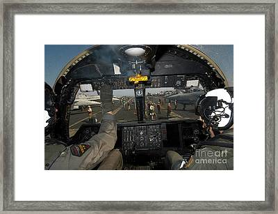 A View From The Tactical Coordinators Framed Print by Stocktrek Images