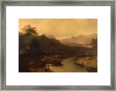 A View In China - Cultivating The Tea Plant Framed Print by Mountain Dreams