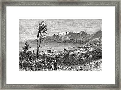 A View Of Beirut And The Lebanon In The Framed Print by Vintage Design Pics