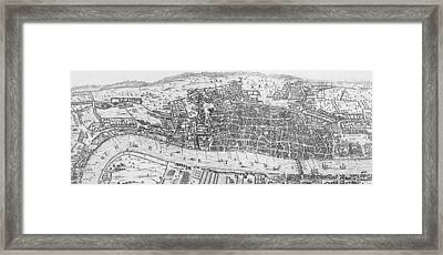 A View Of London In The Sixteenth Century Framed Print by English School